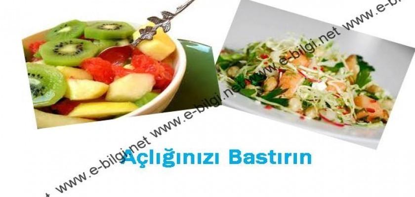 Açlık Bastıran Yiyecekler