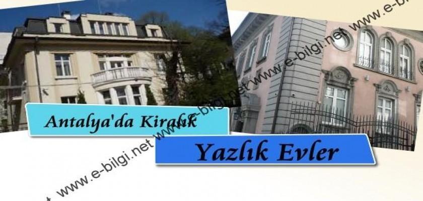 Antalya'da Lüks Kiralık Daireler
