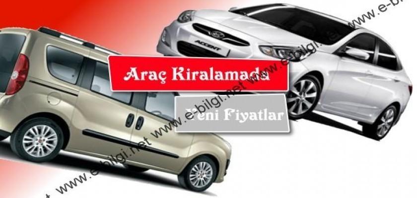 Araç Kiralamada Yeni Fiyatlar