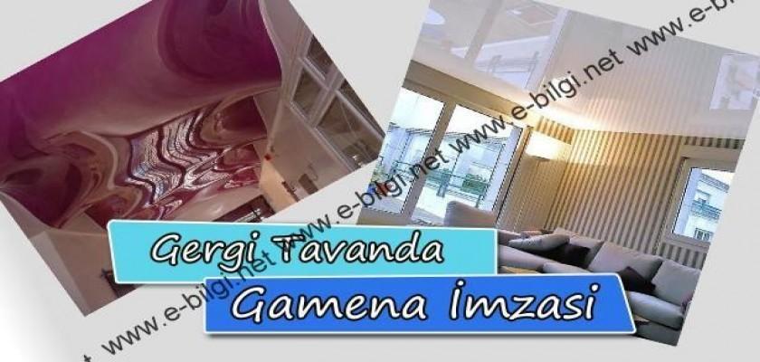 Gergi Tavanda Gamena İmzası