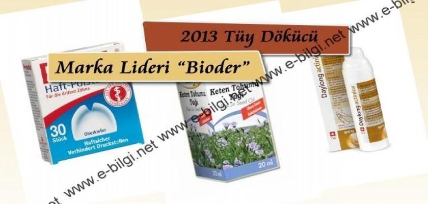 """2013 tüy dökücü marka lideri """"Bioder"""""""